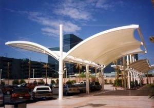 Low Cost Steel Structure Car Parking Shed pictures & photos