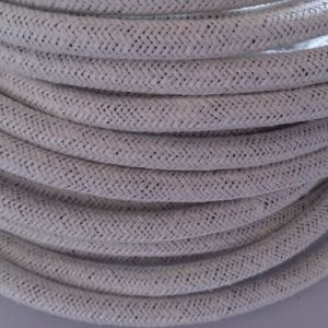 White Linnen Braided Cable Lamp Cord pictures & photos