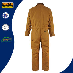 China Supplier Durable Cotton Canvas Cold Weathear Windproof Padded Coverall pictures & photos