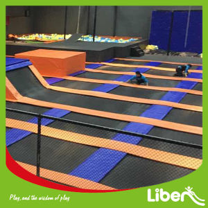 Professional Gymnastic Indoor Trampolin Park with Spider Tower and Olympic Mat pictures & photos