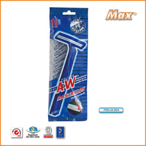 Plastic Platinum Coated Twin Stainless Steel Blade Disposable Razor (LA-5024) pictures & photos