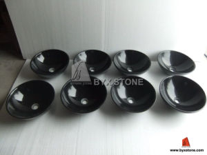 Black Marble Polished Wash Basin / Sink for Bathroom pictures & photos