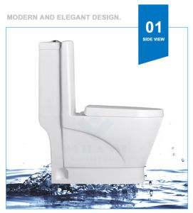 Weidansi Ceramic Wash Down S-Trap One Piece Toilet (WDS-T6103) pictures & photos