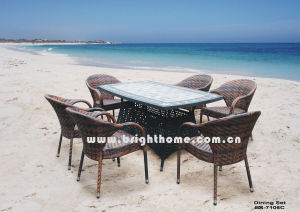 6 Chair Outdoor Dining Set Popular Antique Furniture pictures & photos
