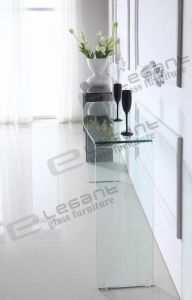 First Class Glass Console Table with Curve pictures & photos
