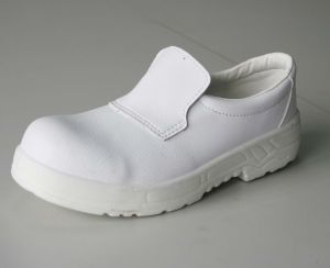 Microfiber Shoe Cover ESD Cleanroom White Safety Shoes pictures & photos