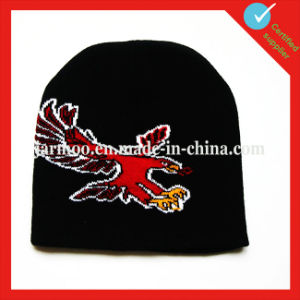 100% Acrylic Custom Design Embroidery Winter Beanie pictures & photos