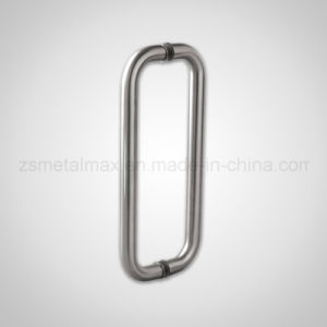Brass Stainless Steel Glass Door Double Pull U Shaped Handle (LS007) pictures & photos