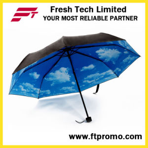 OEM Manual Open Folding Umbrella with Logo pictures & photos