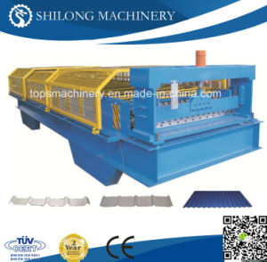 Professional Supplier of Glazed Color Steel Roof Tile Roll Forming Machine pictures & photos