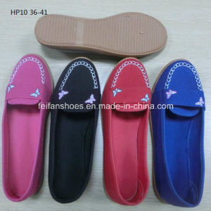 Latest Cheap Fashion Lady Casual Shoes Injection Printing Canvas Shoes (HP10) pictures & photos