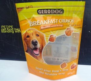 Laminated Pouches for Pet Food Package with Ziplock pictures & photos