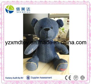 Customize Denim Bear Toy in Stock with Custom Logo pictures & photos