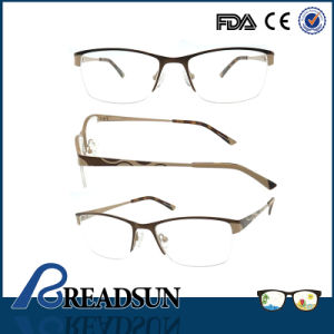 2016 Manufacturers Wholesale Italy Designer Wine Silver Metal Optical Eye Frame Made in China pictures & photos