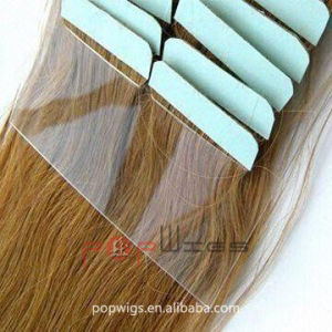 Super Tape Full Human Hair All Color Acceptable Hotselling Tape Hair Extension pictures & photos