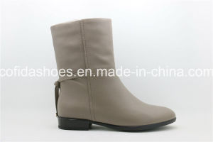 New Designed Leather Flat Ladies Boots with Multi Colors pictures & photos