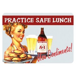 Hotsale Tin Sign Practice Safe Lunch 20X30cm pictures & photos