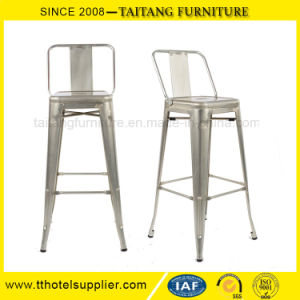Low Back Metal Bar Chair with Legs Rest pictures & photos