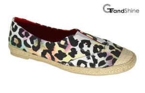 Women′s Espadrille Printing Canvas Flat Casual Shoes pictures & photos