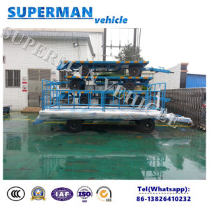 5t Utility Flatbed Agriculture Cargo Transport Drawbar Full Trailer pictures & photos