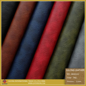 Fashion Embossed Colorful Synthetic Leather (BB003) pictures & photos