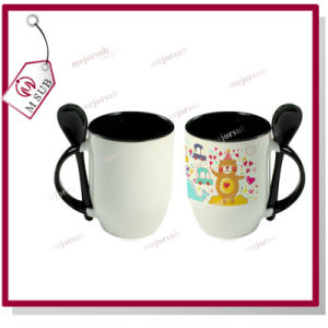 Color Ceramic Sublimation Mug with Spoon by Mejorsub pictures & photos