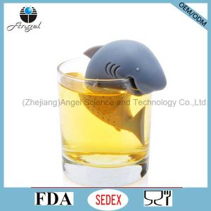 Wholesale Fish Silicone Tea Filter Tool FDA LFGB Approved St06