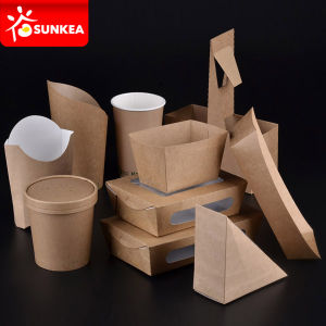 Wholesale Custom Logo Printed Disposable Fast Food Lunch Paper Packaging Box pictures & photos