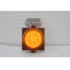 Road Safety 300mm Yellow LED Flashing Solar Warning Light pictures & photos