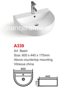 Ceramic Wash Basin (No. A339) Semi-Circle Art Basin High Quality pictures & photos