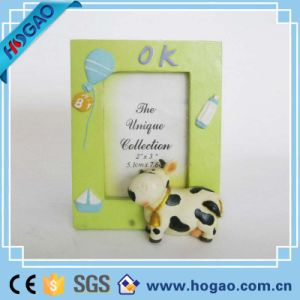 Resin Photo Frame Green Edge and Cute Cow pictures & photos