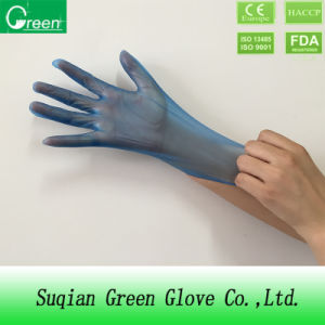 Household Cleanroom Disposable PVC Gloves Blue pictures & photos