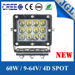 Car Working Light Offroad Auxiliary CREE LED Headlight 60W