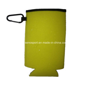 Cheapest Price Foam Can Cooler with Metal Clip (SNCC50)
