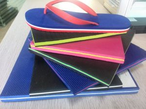 Rubber EVA Sheets PE Foam Sheets for Slipper Sole with PVC Straps pictures & photos
