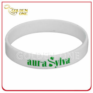 Fashion Custom Screen Print Simple Color Silicone Wristband pictures & photos