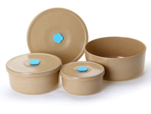 Rice Husk Fibre Tableware Storage Bowl Set pictures & photos