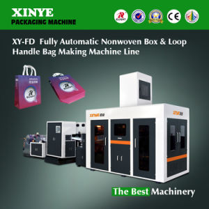 Fully Automatic Nonwoven Box & Loop Handle Bag Making Machine Line Xyfd-500 pictures & photos