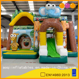 Lovely Safari Park Inflatable Combo Bouncer with Slide Inflatable Trampoline (AQ01583) pictures & photos