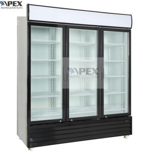 Three Door Vertical Beverage Cooler with Electronic Temperature Controller pictures & photos