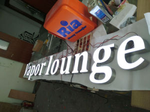 LED Billboard Resin Surface Mirror Steel Body Front-Lit Letters Directional Sign pictures & photos