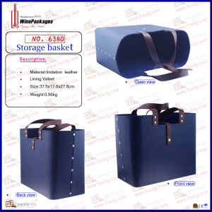 Wholesale Custom Multi Use Leather Storage Basket Bag (6380) pictures & photos