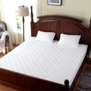 China Cheap Quilted White Hotel Polyester Waterproof Mattress Protector Manufacturer