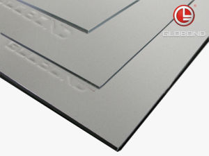 GLOBOND Plus PVDF Aluminum Composite Panel (PF-422 Silver Metallic) pictures & photos