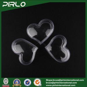 3G Heart Shape Transparent PS Jar with Lid Mini Eye Cream Jar Clear Plastic Jar pictures & photos