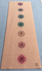 Eco Friendly Printed Cork Yoga Mat Custom Logo Anti-Slip No Odor pictures & photos