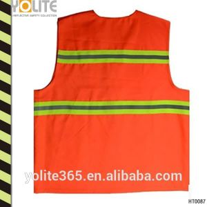 High Visibility Mesh Safety Vest Magic Tape Closure pictures & photos