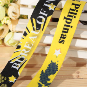 Custom Sublimation Logo Satin Ribbon for Party/Festival/Event pictures & photos