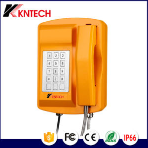 Tunnel Phone VoIP Phone Sos Emergency Telephone Knsp-18 LCD Weatherproof Outdoor Phone IP66 pictures & photos