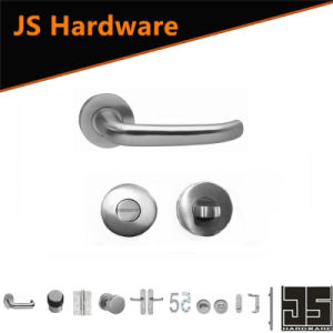 Stainless Steel Door Handle with Wc Knobs pictures & photos